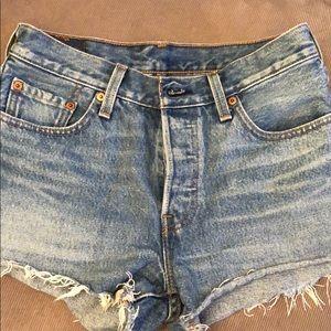 Levi Jean Shorts size 25